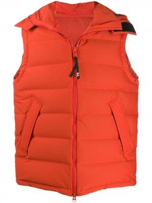 Дутый жилет с капюшоном Y-3. Цвет: оранжевый