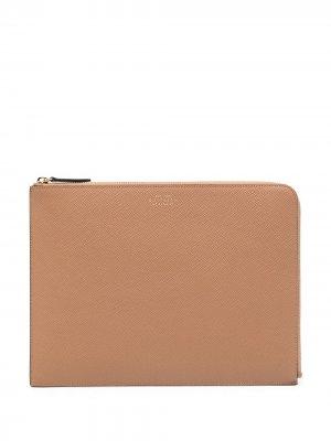 Сумка для ноутбука Smythson. Цвет: коричневый