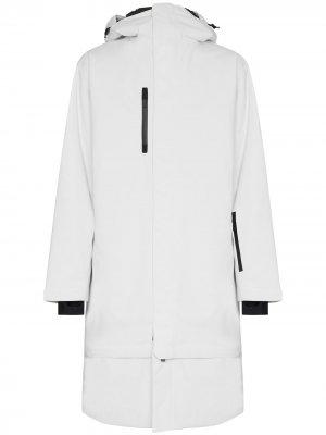 Удлиненное лыжное пальто Pro Wadded Anton Templa. Цвет: белый