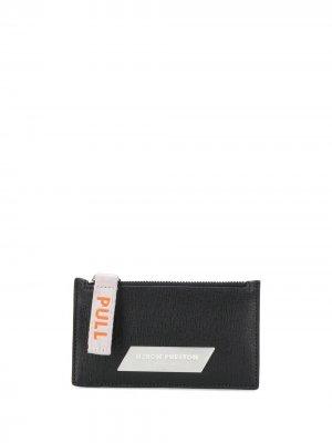 Logo patch leather cardholder Heron Preston. Цвет: черный