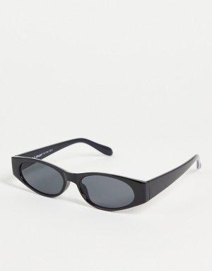 Женские солнцезащитные очки в круглой черной оправе Wincey-Черный цвет AJ Morgan