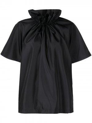 Блузка с короткими рукавами и сборками 3.1 Phillip Lim. Цвет: черный