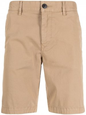 Slim-fit chino shorts BOSS. Цвет: коричневый
