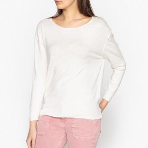 Пуловер из тонкого трикотажа с декоративными швами BOK AMERICAN VINTAGE. Цвет: экрю