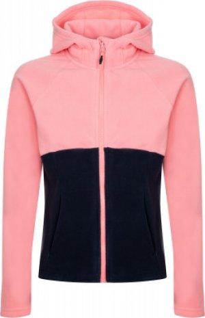 Джемпер флисовый для девочек , размер 152 Outventure. Цвет: розовый