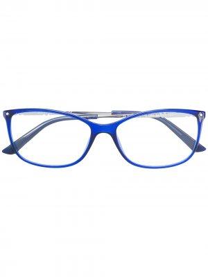 Очки в оправе кошачий глаз Swarovski Eyewear. Цвет: синий