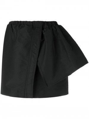 Спортивная юбка мини оригинального кроя Nº21. Цвет: черный