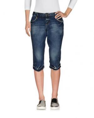 Джинсовые брюки-капри BRIAN DALES DENIM. Цвет: синий
