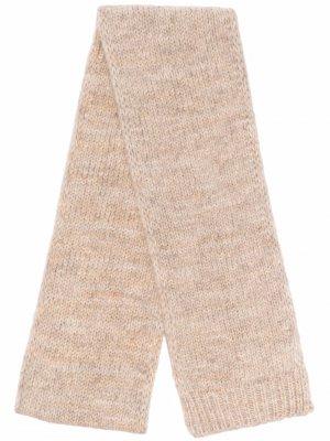 Knitted alpaca-blend scarf Maison Margiela. Цвет: нейтральные цвета
