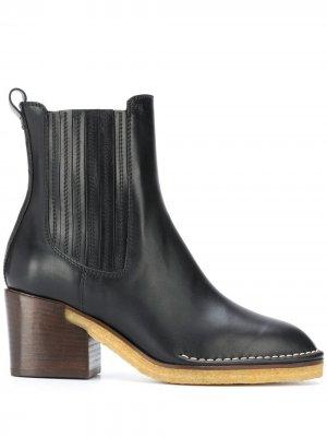 Tods ботинки челси на каблуке Tod's. Цвет: черный