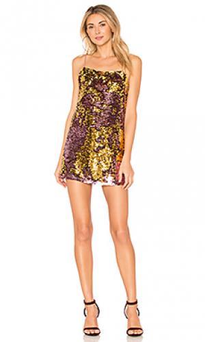 Платье-майка sparklers For Love & Lemons. Цвет: розовый