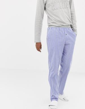Пижамные брюки Calvin Klein. Цвет: синий