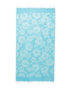Пляжное полотенце MC2 SAINT BARTH. Цвет: лазурный
