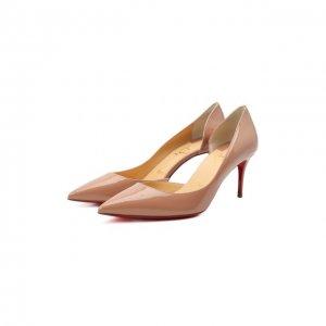 Кожаные туфли Iriza 70 Christian Louboutin. Цвет: бежевый