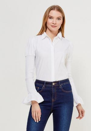 Блуза LOST INK SHIRRED SLEEVE SHIRT. Цвет: белый