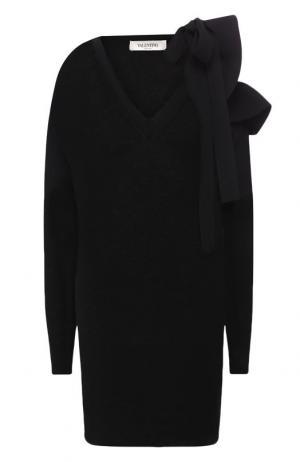 Пуловер из смеси шерсти и кашемира Valentino. Цвет: черный