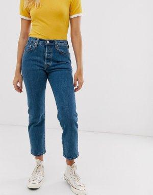 Укороченные джинсы Levis 501 clean rinse-Синий Levi's