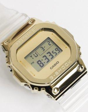 Цифровые часы в стиле унисекс с прозрачным ремешком G-Shock DW-5600SKE-7ER-Прозрачный Casio