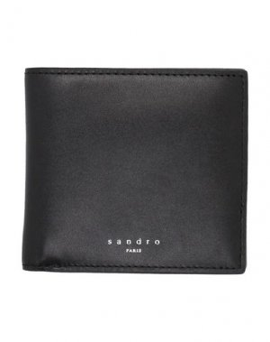 Бумажник SANDRO. Цвет: черный