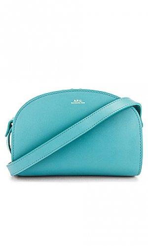 Сумка через плечо sac demi lune mini A.P.C.. Цвет: сине-зеленый