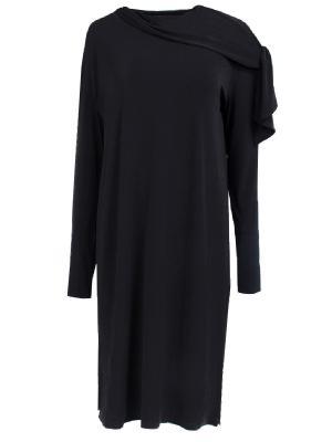 Однотонное платье BY MALENE BIRGER. Цвет: черный