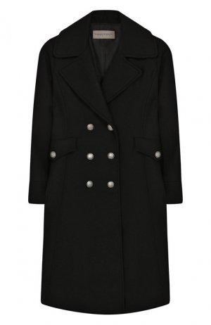 Двубортное пальто из шерсти Ermanno Scervino. Цвет: чёрный