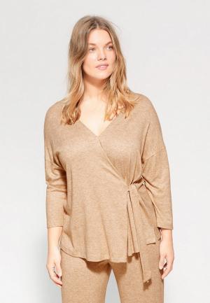 Пуловер Violeta by Mango - BRUSHED. Цвет: бежевый
