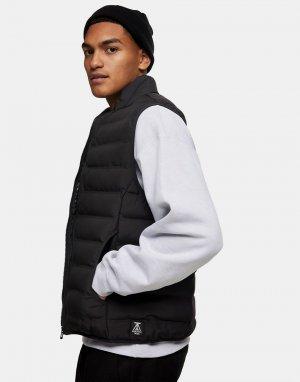 Черный жилет на подкладке Considered-Черный цвет Topman