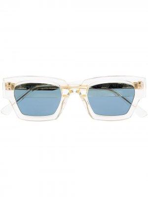 Солнцезащитные очки Villette в квадратной оправе Ahlem. Цвет: золотистый