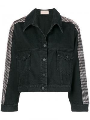 Джинсовая куртка с отделкой кристаллами Christopher Kane