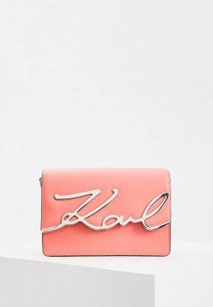 Сумка Karl Lagerfeld. Цвет: коралловый