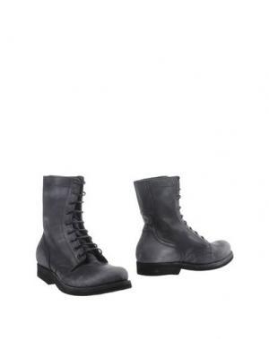 Полусапоги и высокие ботинки AREA FORTE. Цвет: стальной серый