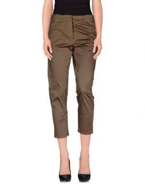 Повседневные брюки ANNARITA N. Цвет: зеленый-милитари