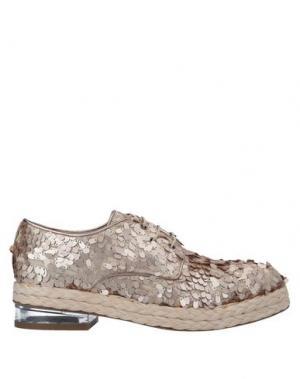 Обувь на шнурках ALBERTO GOZZI. Цвет: голубиный серый