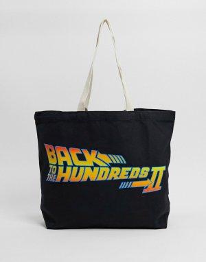 Дорожная сумка-тоут черного цвета x Back To Future-Черный The Hundreds