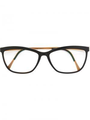 Оптические очки в прямоугольной оправе Lindberg. Цвет: чёрный