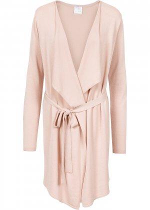 Пальто вязаное bonprix. Цвет: бежевый
