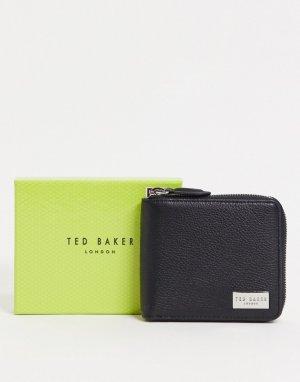 Черный кожаный кошелек на молнии Ted Baker