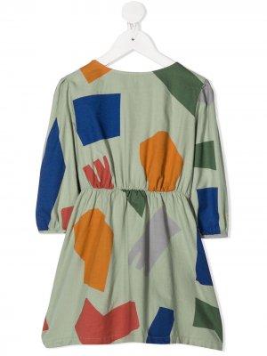 Платье Shadows Woven Bobo Choses. Цвет: зеленый