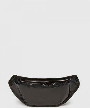 Виниловая поясная сумка O`Stin. Цвет: черный
