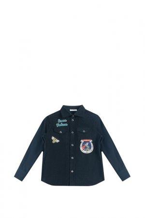 Рубашка DOLCE & GABBANA. Цвет: темно-синий
