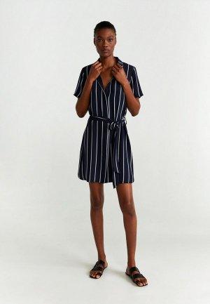 Платье Mango - ZANE-H. Цвет: синий