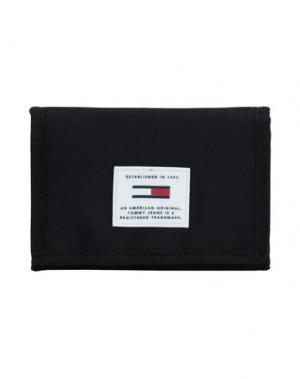 Бумажник TOMMY JEANS. Цвет: черный