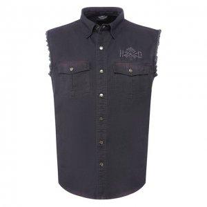 Джинсовая рубашка Genuine Motorclothes Harley-Davidson. Цвет: серый