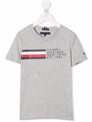 Logo-print organic cotton T-shirt Tommy Hilfiger Junior. Цвет: нейтральные цвета