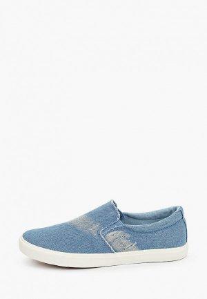 Слипоны HCS. Цвет: голубой