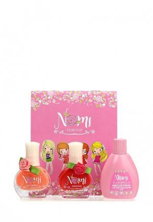 Набор лаков для ногтей Nomi №06 и №02  жидкость снятия лака. Цвет: разноцветный