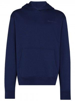 Толстовка с капюшоном из коллаборации Pharrell Williams adidas. Цвет: синий