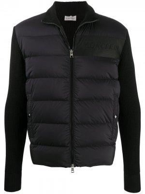 Куртка с дутыми вставками Moncler. Цвет: черный