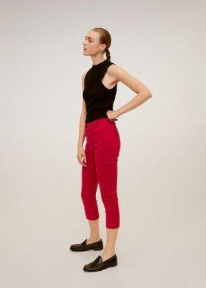 Прямые хлопковые брюки - Nina6-h Mango. Цвет: красный